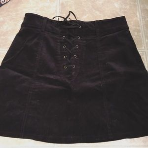 f21 lace up skirt